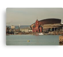 Cardiff Bay Across The Water Canvas Print