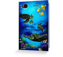 The Beauty Below Greeting Card
