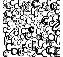 The Letter C Photographic Print