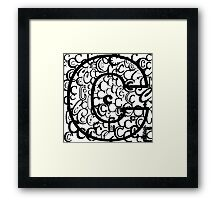 The Letter C, open border Framed Print