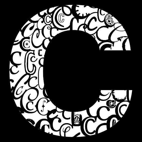 The Letter C, black background by Julie Hartman