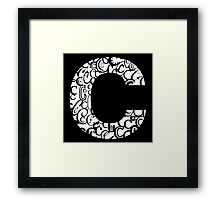 The Letter C, black background Framed Print