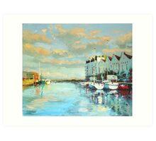Summer Evening, Galway Harbour Art Print