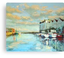 Summer Evening, Galway Harbour Canvas Print