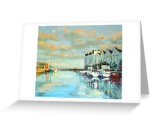 Summer Evening, Galway Harbour Greeting Card