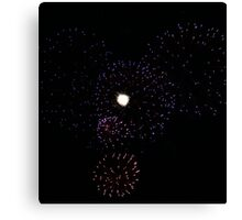 Mickey Mouse fire works  Canvas Print