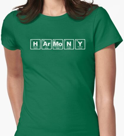 Harmony - Periodic Table Womens Fitted T-Shirt