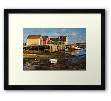 Blue Rocks, Nova Scotia Framed Print