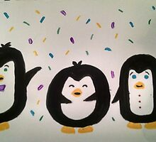 Excited Penguins by cer12