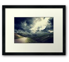The Sky Bleeds Light Framed Print