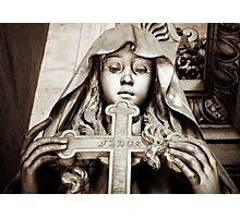 Holding the cross Photographic Print