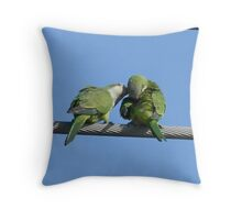 With a Kiss! Throw Pillow