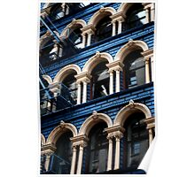 Blue Building, NY Poster