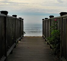 """"""" Walkway to Paradise - Old Orchard Beach, Maine """" by DeucePhotog"""