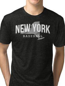 New York Baseball 3 Tri-blend T-Shirt