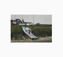 Overcast Day - The Boatyard, Highbridge in Somerset. Unisex T-Shirt