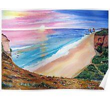 Australian Sunset - At 12 Apostles National Park Poster