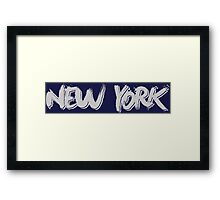 New York: Grey Framed Print