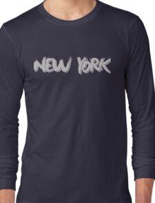 New York: Grey Long Sleeve T-Shirt