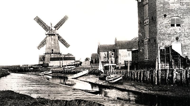 Cley Windmill sea port 1880s by cleywindmill