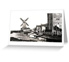Cley Windmill sea port 1880s Greeting Card