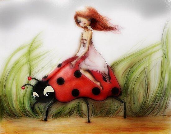 Riding a Ladybug by Femke Nicoline Muntz