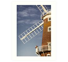 Cley Windmill - Love in the air Art Print