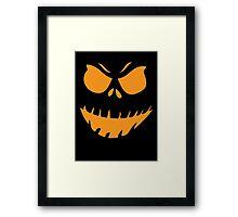 Halloween Face Framed Print