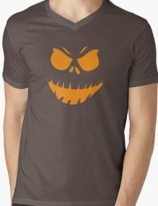 Halloween Face Mens V-Neck T-Shirt