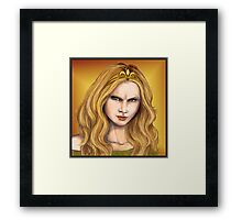 Cersei Lannister, the evil queen Framed Print