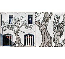 Sisters of sorrow. Bondi graffiti Photographic Print