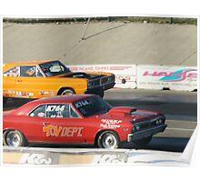 Boys & Their Toys; Jeff Beck (Red) vs Orange; Summit Series Racing Poster
