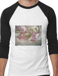 Pretty Pink Blossoms Men's Baseball ¾ T-Shirt