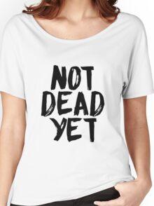 Not Dead Yet - Frank Turner Inspired T-Shirt (Black) Women's Relaxed Fit T-Shirt