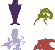 Industrialists - Oddworld Coloured Silhouettes by oddworldcrash