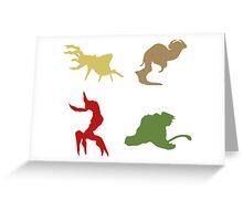 Wildlife - Oddworld Coloured Silhouettes Greeting Card