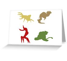 Wildlife - Oddworld Coloured Silhouettes Greeting Card