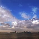 New York Sky Line Big Sky by Rebecca  Haegele