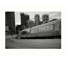 cityscapes #239, onward rush Art Print