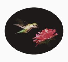 Hummingbird with Flower Baby Tee