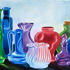 Colorful Bottles by Marilyn Healey