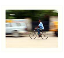 Riding Through Port au Prince Art Print