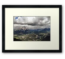 A View from the Top of Sulphur Mountain Framed Print