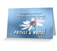 Top Ten Banner Pastel & White  Greeting Card