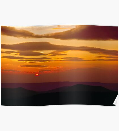 Blue Ridge Parkway Sunrise Poster