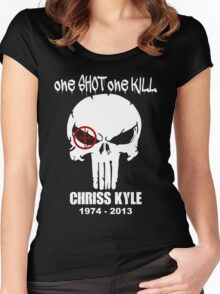 one shot one kill Women's Fitted Scoop T-Shirt