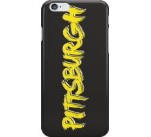 Pittsburgh: Black and Yellow iPhone Case/Skin