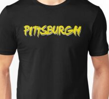 Pittsburgh: Black and Yellow Unisex T-Shirt