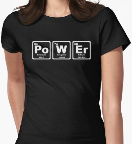 Power - Periodic Table Womens Fitted T-Shirt