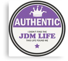 Authentic jdm life found me badge - purple Canvas Print